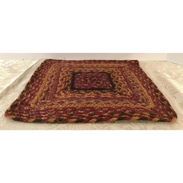 Late 20th Century 20th Century Boho Chic Jute Fiber Table Mat For Sale - Image 5 of 7