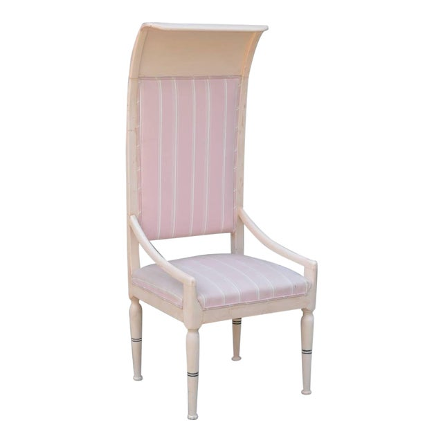 Whimsical Viennese Secessionist High Back Chair For Sale
