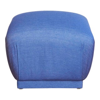 Karl Springer-Style Souffle Pouf Ottoman For Sale