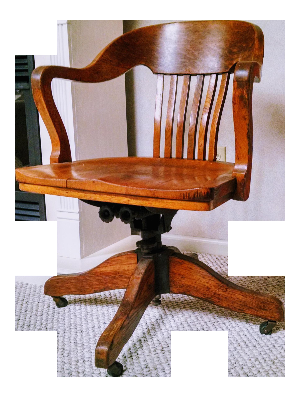 Marble U0026 Shattuck Oak Barrel Back Swivel Chair