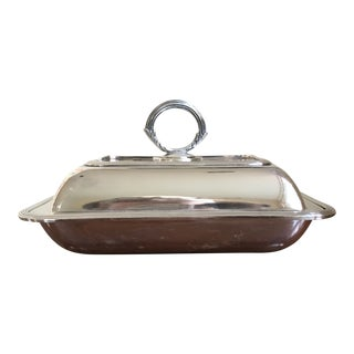 Early 20th Century English Silver Plate Covered Dish For Sale