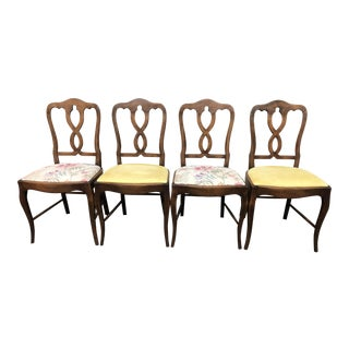 Vintage Reupholstered Dining Chairs - Set of 4
