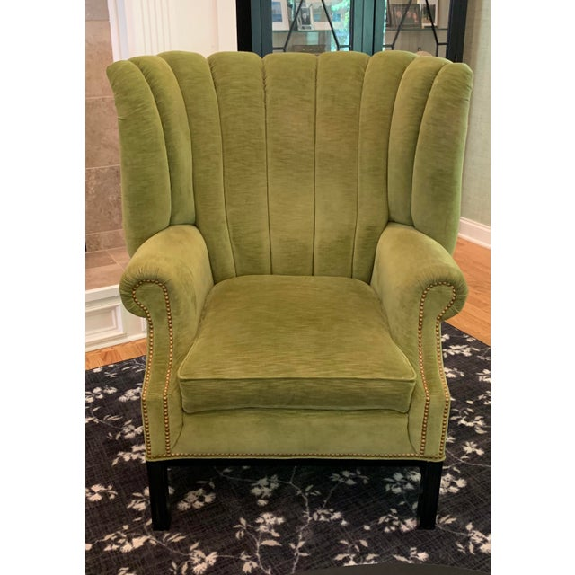 Century Furniture Century Furniture Artesia Wingback Chairs- A Pair For Sale - Image 4 of 13