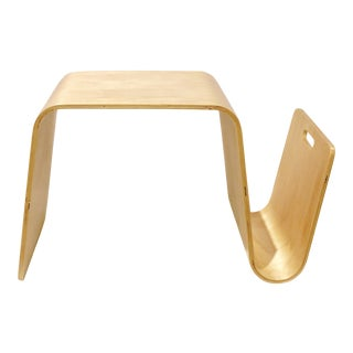 Modern Italian Bentwood Magazine Table For Sale