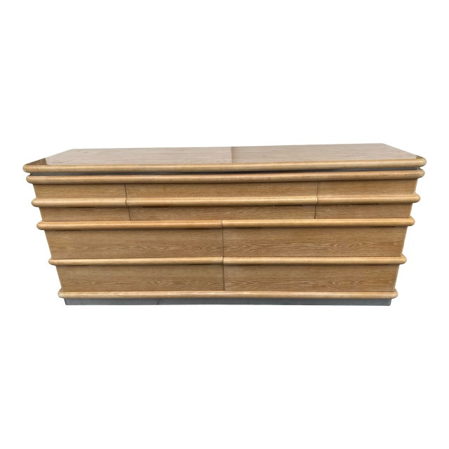 Jay Spectre Chest of Drawers in Cerused Oak For Sale