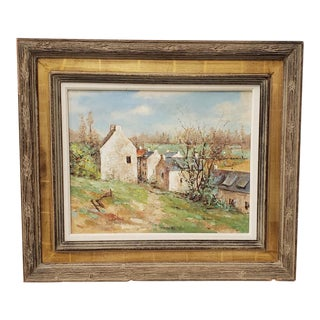 "David Harris (American, 20th C.) ""Normandy Spring"" Original Oil Painting For Sale"