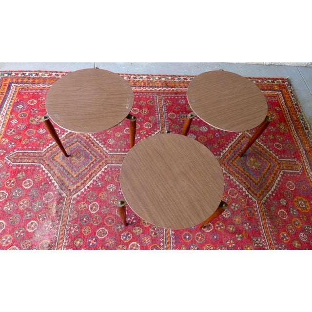 Mid-Century Modern Mid Century Modern Stackable Plant Stands, Set/3 For Sale - Image 3 of 8