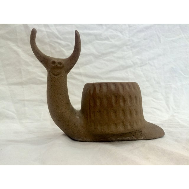 Mid Century Snail Planter - Image 2 of 8