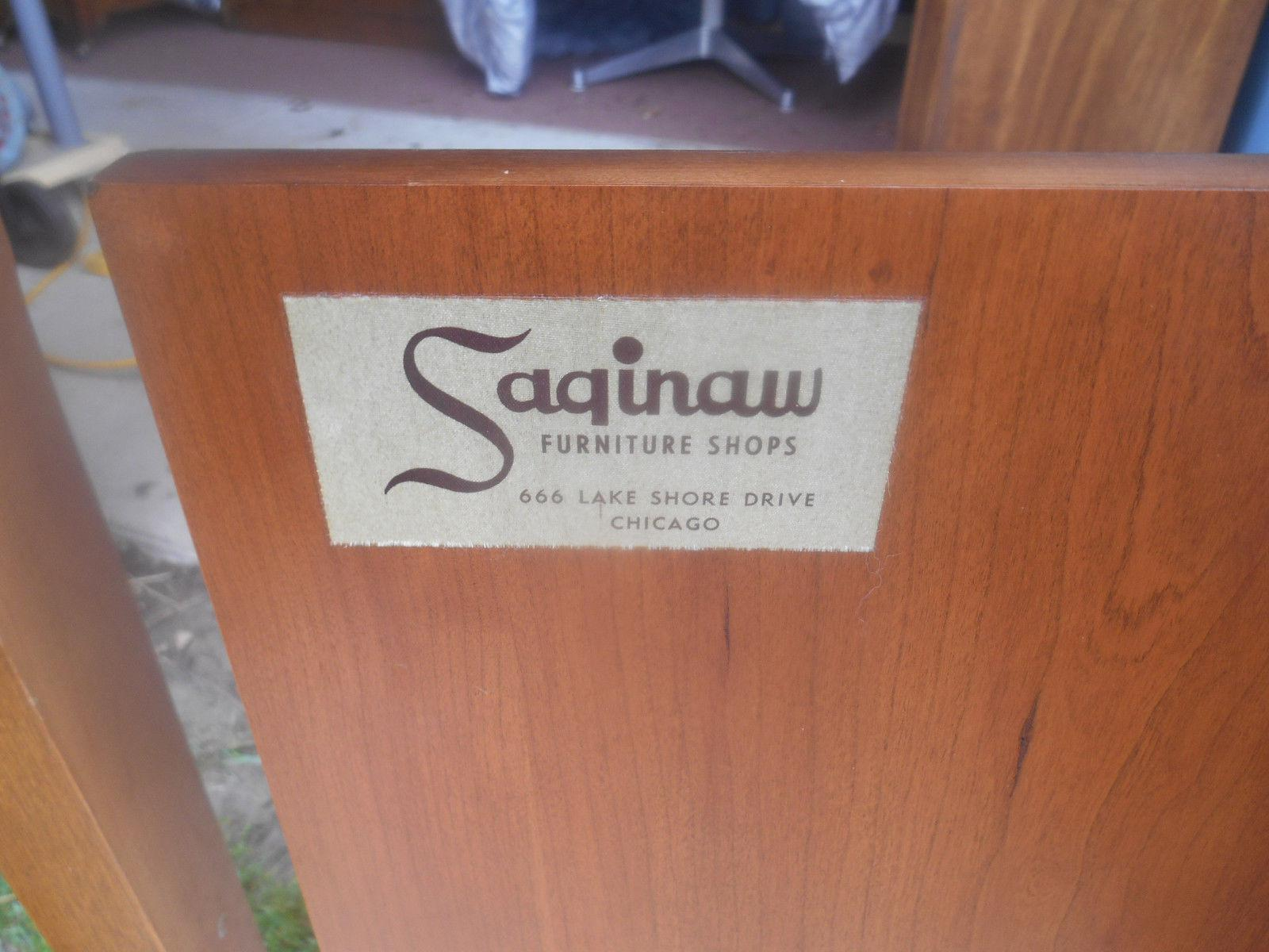 Wood Rare Mid Century Modern Saginaw Furniture 9 1/2 Ft. Extending Dining