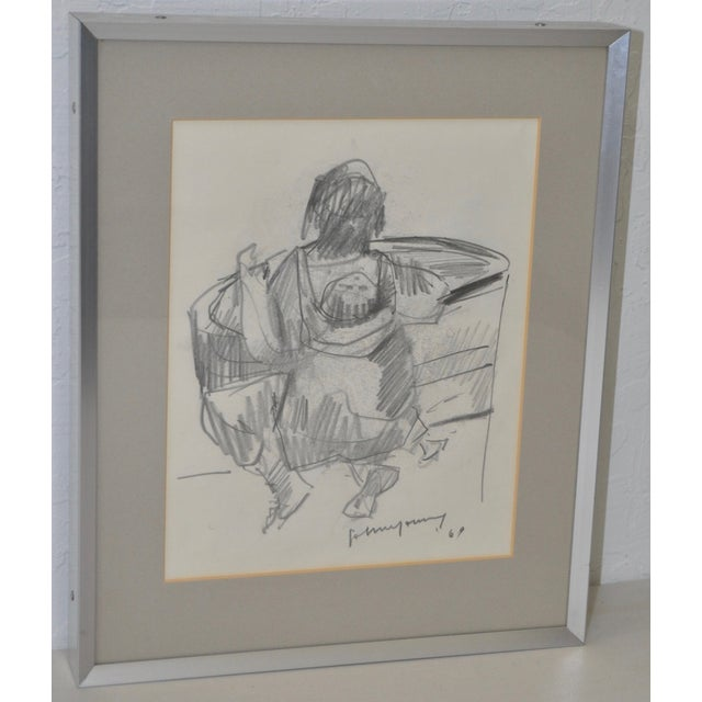 Modern John Young Graphite Drawings - Pair For Sale - Image 3 of 7