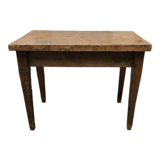 20th Century Primitive Wood Peg Joinery Table