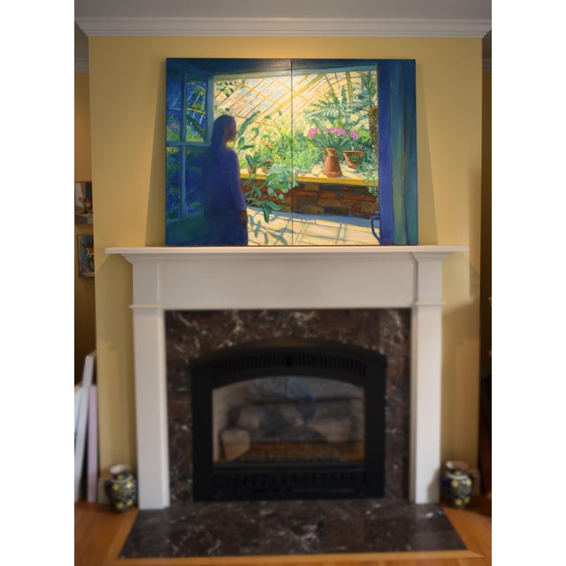 "Contemporary Contemporary Large Painting, ""The Greenhouse"", by Stephen Remick For Sale - Image 3 of 13"