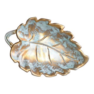 Stangl Gold Leaf Ceramic Catchall Bowl