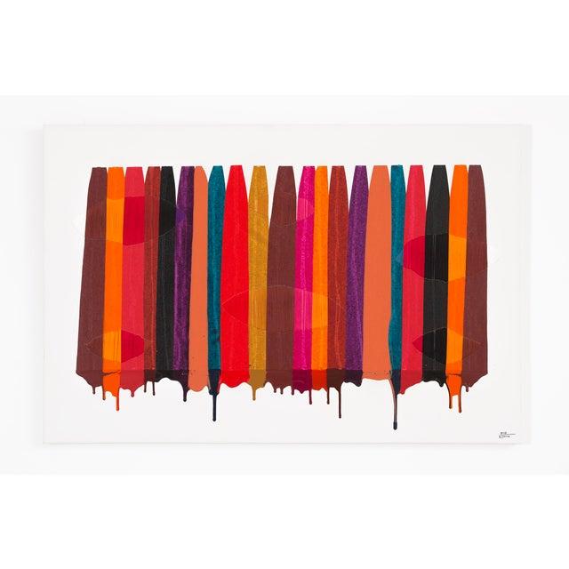 "Abstract Raul de la Torre, ""FILS I COLORS CCXLIX"" For Sale - Image 3 of 8"