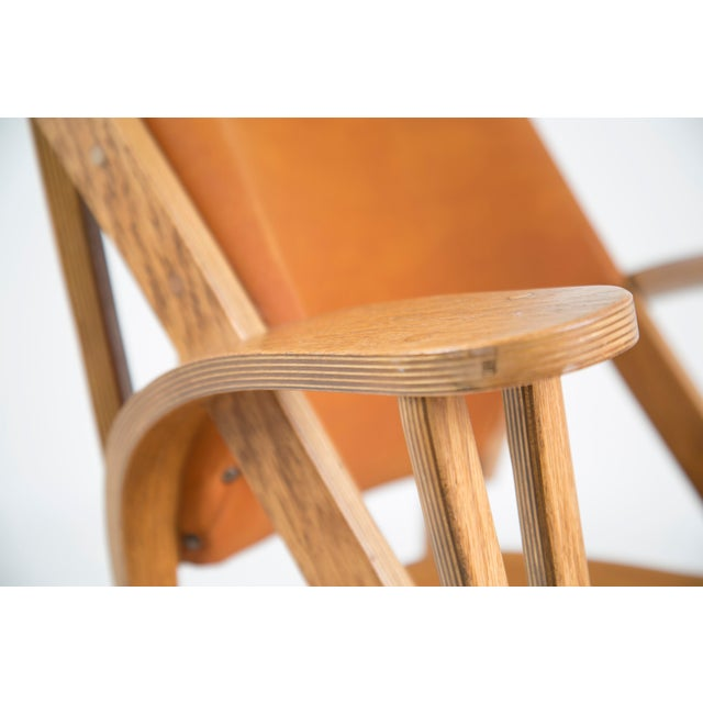 Animal Skin Norman Ridenour Bentwood Low Armchairs - A Pair For Sale - Image 7 of 13