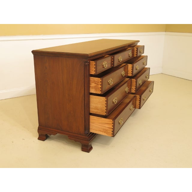 1980's Vintage Henkel Harris Chippendale Walnut Dresser For Sale In Philadelphia - Image 6 of 12