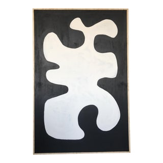 Black & White Oversized Abstract Painting
