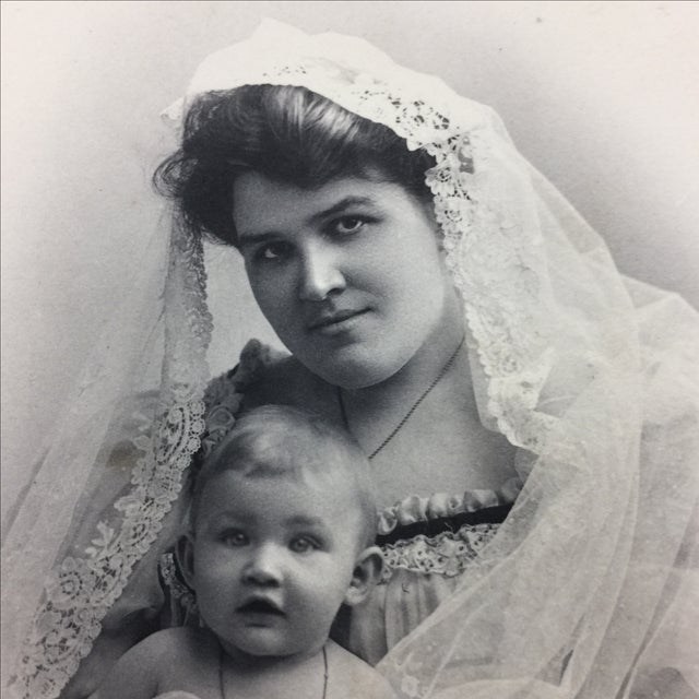 19th Century Portrait of a Mother and Baby Photograph - Image 3 of 5