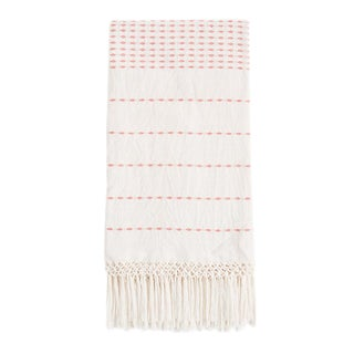 Mexican Coral Handwoven Throw