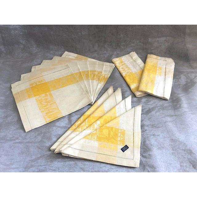 Vintage Damask Linen Napkins - Set of 12 For Sale - Image 13 of 13