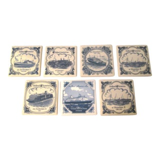 Vintage Cruise Line Coasters - Set of 7 For Sale