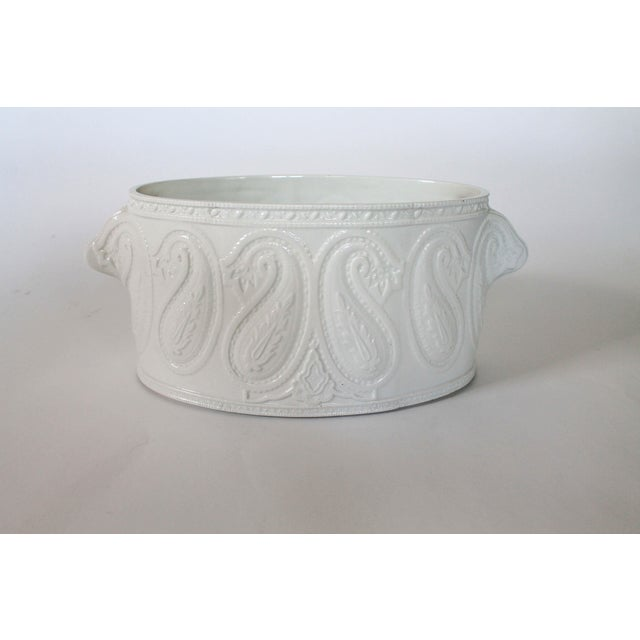 Hollywood Regency Italian Ceramic Planter For Sale - Image 3 of 8