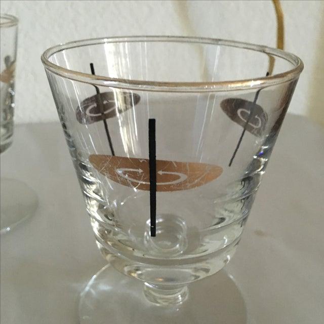 Vintage Atomic Footed Glasses - Set of 5 - Image 5 of 5