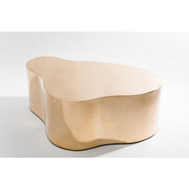 Metal Bronze Free Form Low Table, Usa For Sale - Image 7 of 8