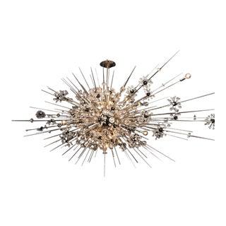 Monumental Custom Handmade Crystal Sputnik with Spikes For Sale