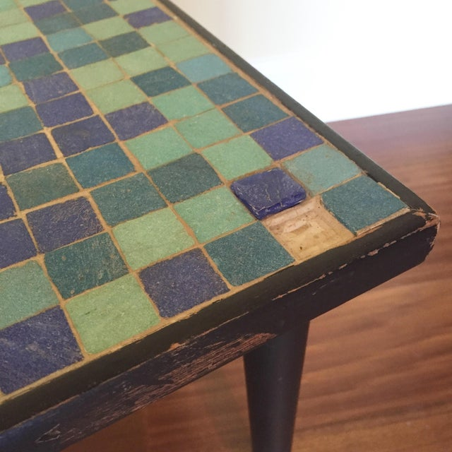 Mid-Century Modern Glass Mosaic Side Table For Sale In San Francisco - Image 6 of 6