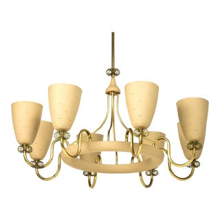 1950s Paavo Tynell for Lightolier Chandelier For Sale