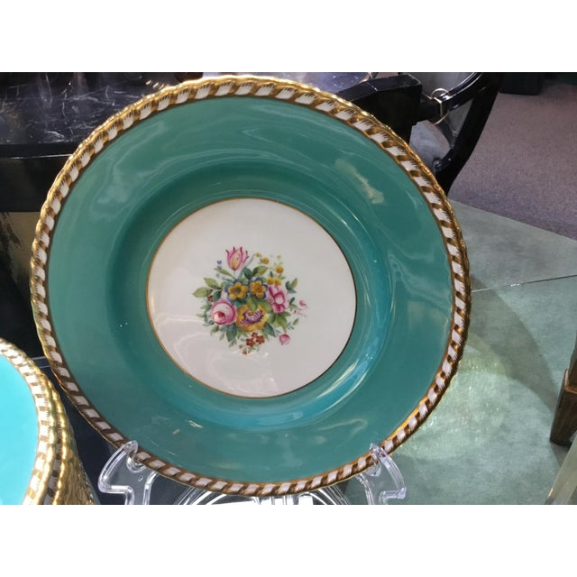 Cottage 1930s Minton Turquoise Plates - Set of 12 For Sale - Image 3 of 4