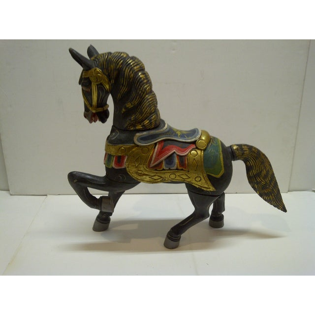 Decorative Hand Carved Wooden Horse - Image 2 of 5