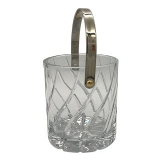 Vintage Mid-Century Olympus Cut Crystal Ice Bucket For Sale