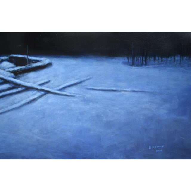 """2010s 2010s Contemporary Painting, """"Old Cellar Hole in the Woods"""" by Stephen Remick For Sale - Image 5 of 11"""