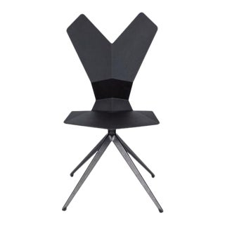 Tom Dixon Y Chair Swivel Black Shell Side Chair For Sale