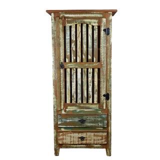 Reclaimed Wood Distressed Cabinet
