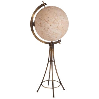 Maison Jansen Brass 'Moon' Globe Bar For Sale