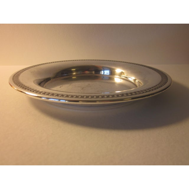 Traditional 20th Century Traditional Silverplate Salver For Sale - Image 3 of 7