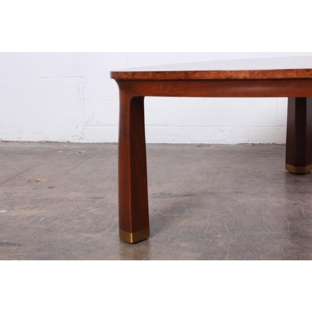1950s Triangle Coffee Table by Edward Wormley for Dunbar For Sale - Image 5 of 9