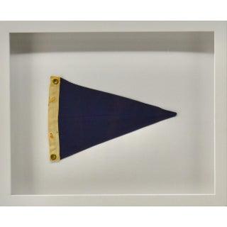 Vintage Blue Nautical Pennant For Sale