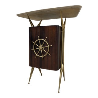 1960s Nautical Gio Ponti-Style Bar For Sale