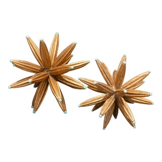 Contemporary Two Gold Stars - a Pair For Sale