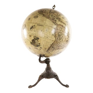 Continental 17th Century Globe For Sale