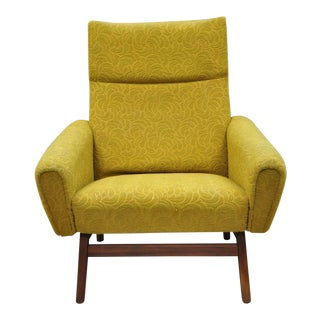 Vintage Mid-Century Danish Modern Adrian Pearsall Style Walnut Club Lounge Chair For Sale