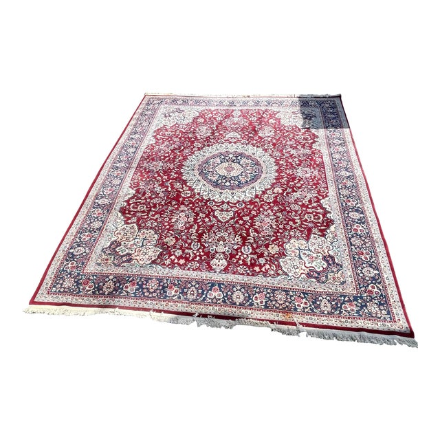 1990s Huge 12 by 16 Vintage Hand Made Persian Wool Rug For Sale