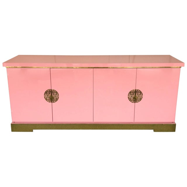 Sideboard Lacquered and Brass Japanese Style by Maison Jansen, France, 1970s For Sale - Image 9 of 9