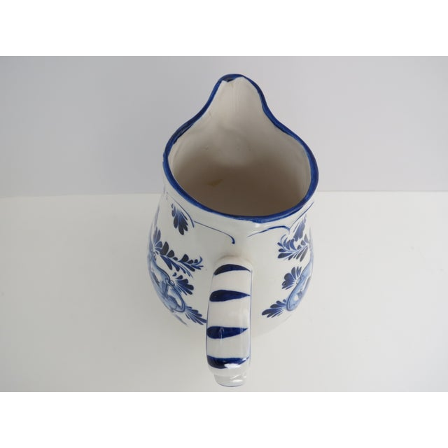 Delft Blue & White Pitcher For Sale In Los Angeles - Image 6 of 7
