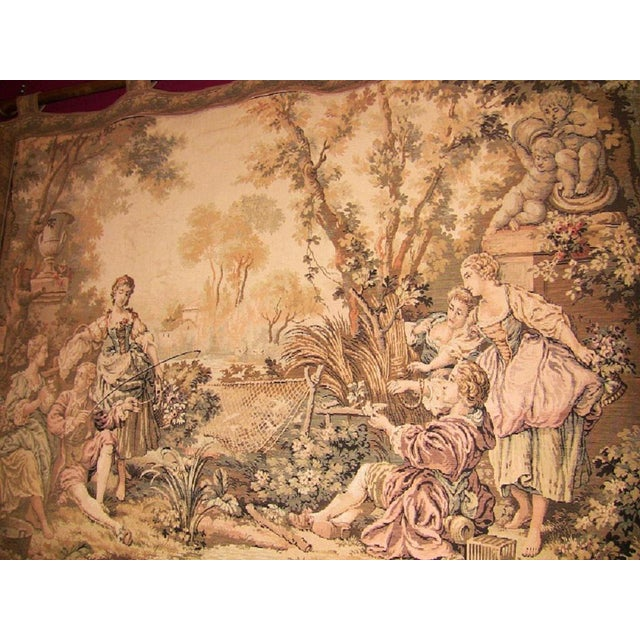 19c Flemish Wall Tapestry of Country Scene For Sale - Image 4 of 7