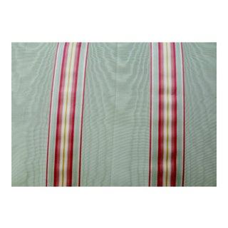 1 Yard Manuel Canovas Stripe Silk Moire Fabric For Sale